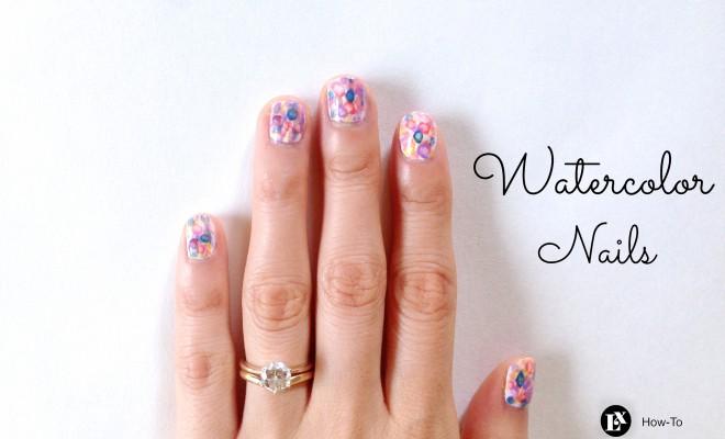 Nail Art How-To: Watercolor Nails