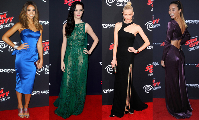 Who What Wear: Jessica Alba, Eva Green, Jaime King, Jamie Chung at the Sin City: A Dame to Kill For Premiere