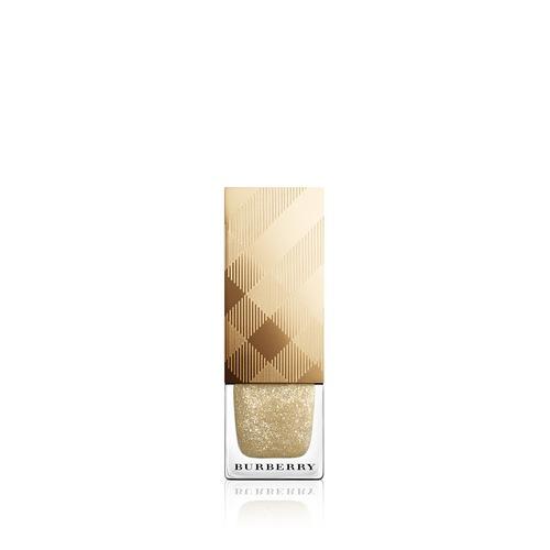 Closeup   burberry iconic colour nail polish  festive gold n0 449 web