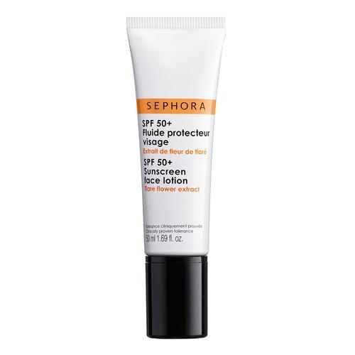 Closeup   spf 50 sunscreen face lotion hd web