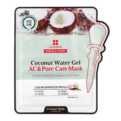 Closeup   insolution coconut water gel ac and pore care mask pouch front web