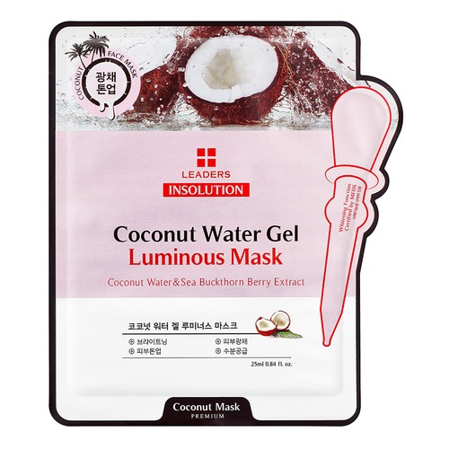 Closeup   insolution coconut water gel luminous care mask pouch front web