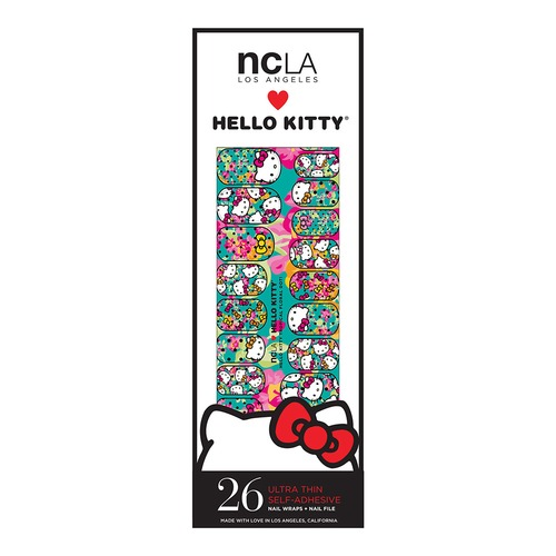 Closeup   hello kitty packaging tropical floral dot web